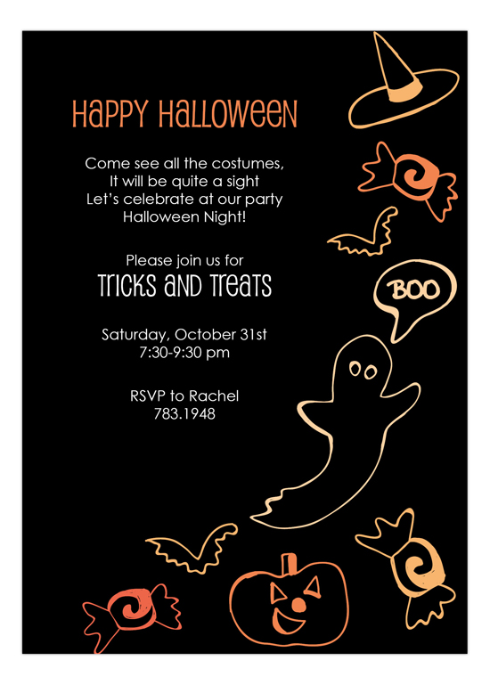 personalized halloween invitation