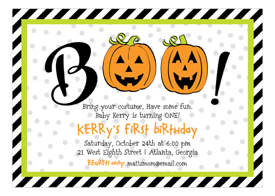 Boo To You Invitation