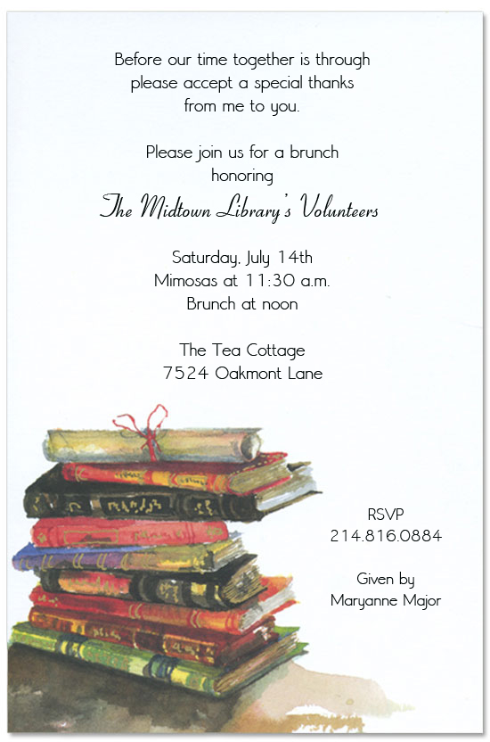 Books Invitation