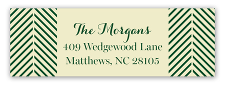Boughs of Holly Address Label