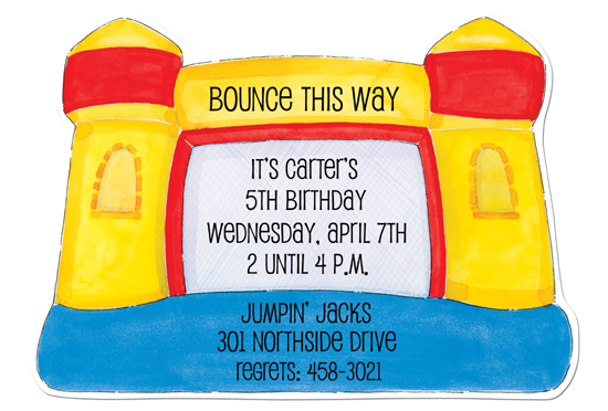 Bounce House Die-cut Invitation