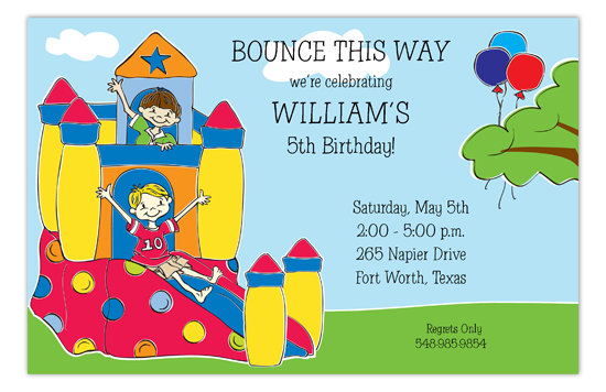 Bounce House Pals Invitation