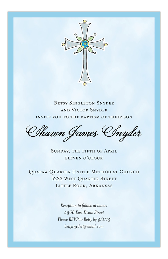 Boy Christening Invitation