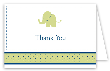 Boy Elephant Icon Folded Note Card