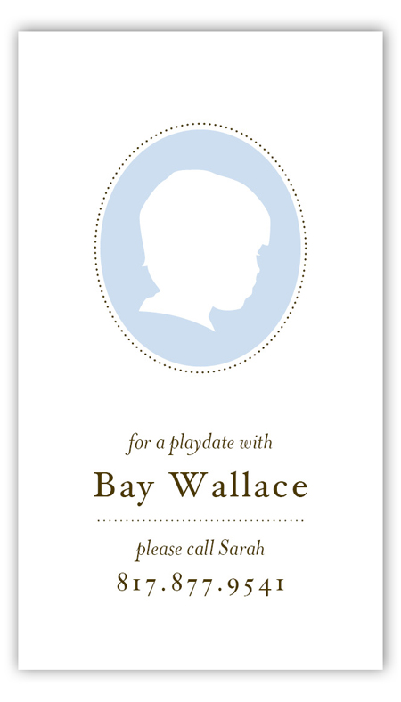 Boy Silhouette Calling Card