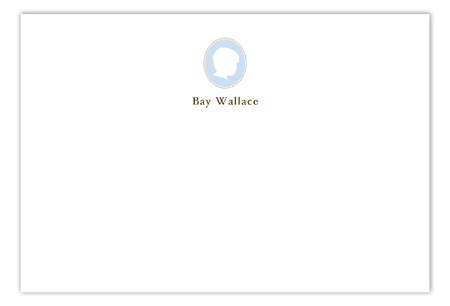 Boy Silhouette Flat Note Card