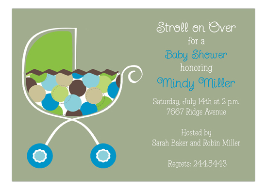 Boy Stroller Invitation
