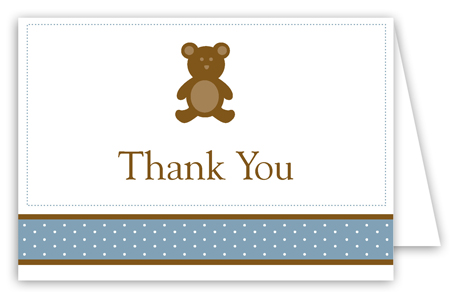 Boy Teddy Bear Icon Folded Note Card
