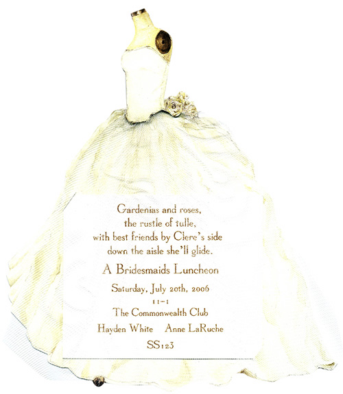 Bridal Gown Invitation with Tulle