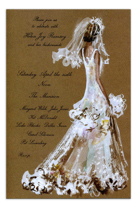 Bridal Lace Invitation