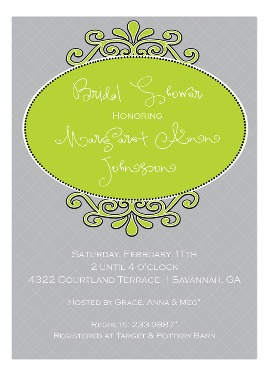 Bridal Shower Medallion Invitation