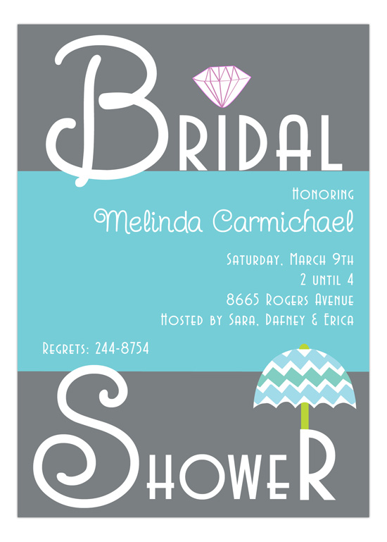 Bridal Shower Umbrella Invitation