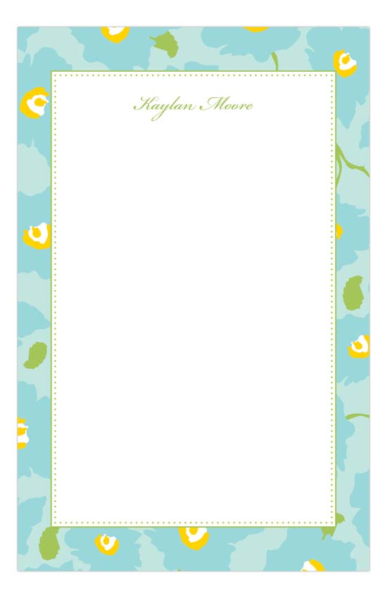 Bright Blue Notepad