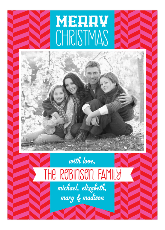 Bright Christmas Banner Photo Card