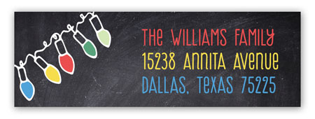Bright Lights Chalkboard Address Label