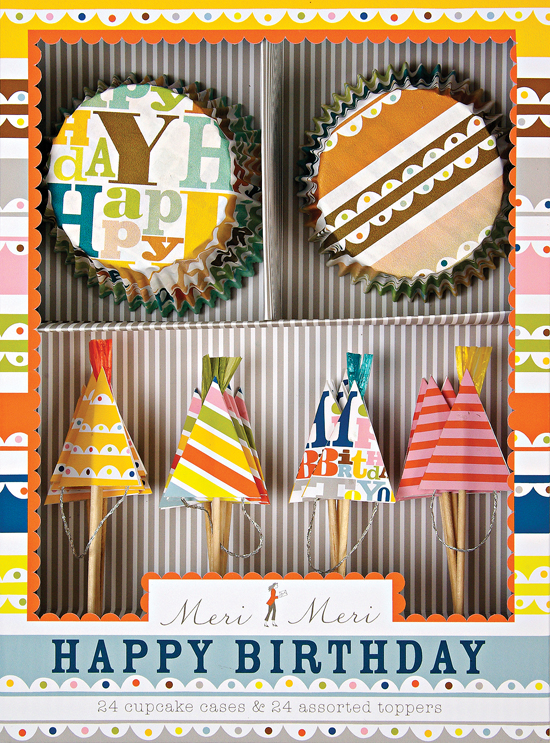 Bright Patterned Birthday Cupcake Kit