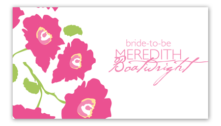 Bright Pink Poppies Calling Card