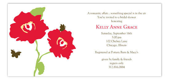Bright Poppy Invitation