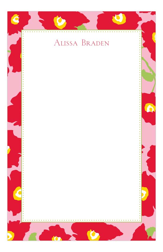 Bright Red Notepad