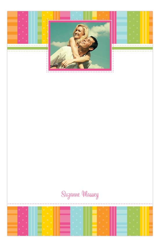 Bright Ribbons Photo Notepad