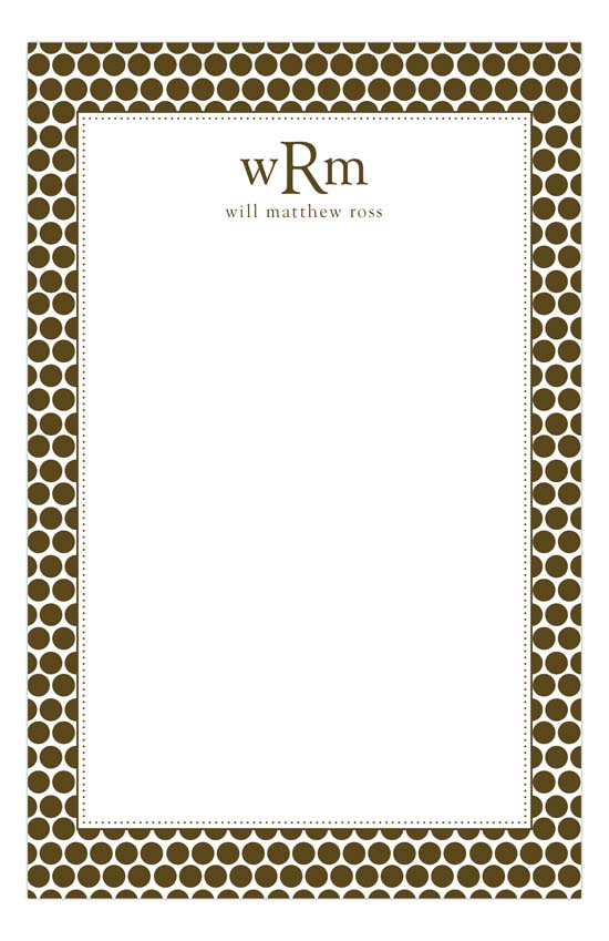 brown-dot-notepad-pddd-nn58pn9019 Personalized Notepads