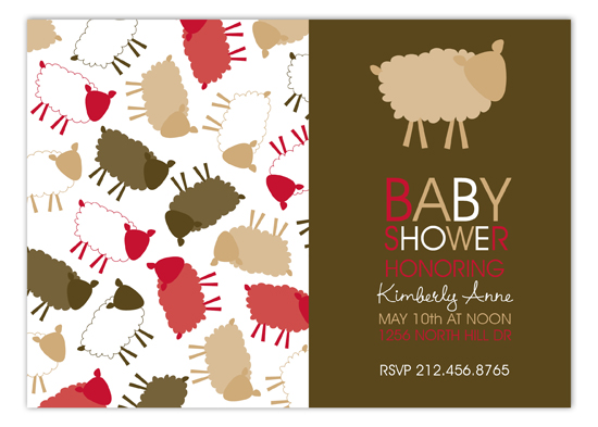 Brown Sheep Celebration Invitation