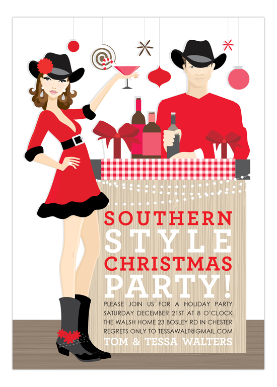 Brunette Southern Style Christmas