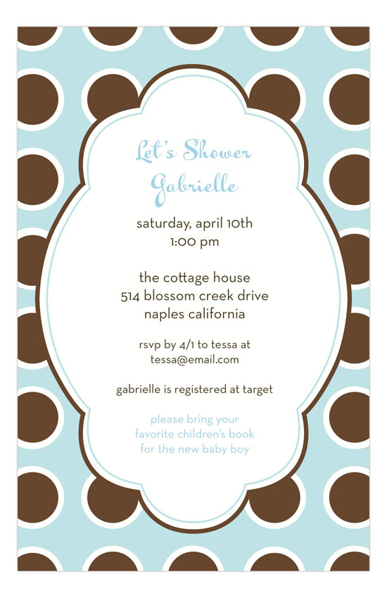 Bubble Gum Blue Invitation