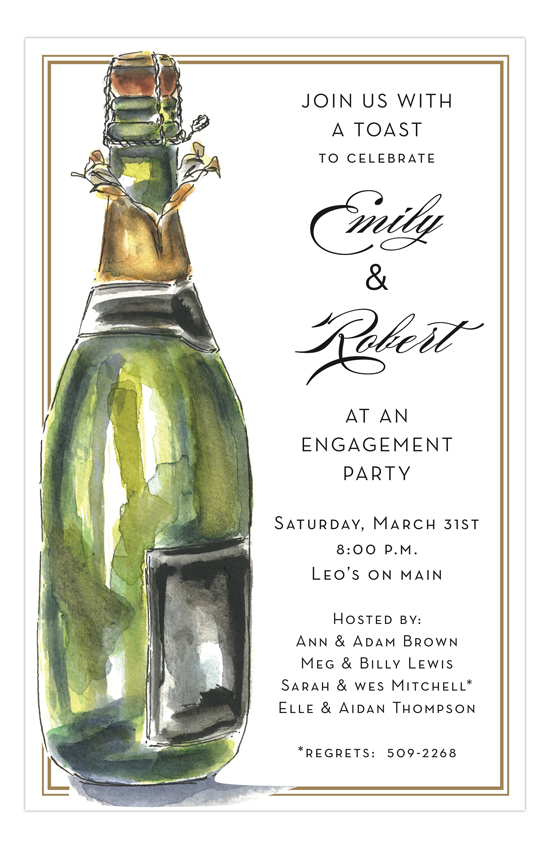 Bubbly Design Co: Cocktail Engagement Party Ideas