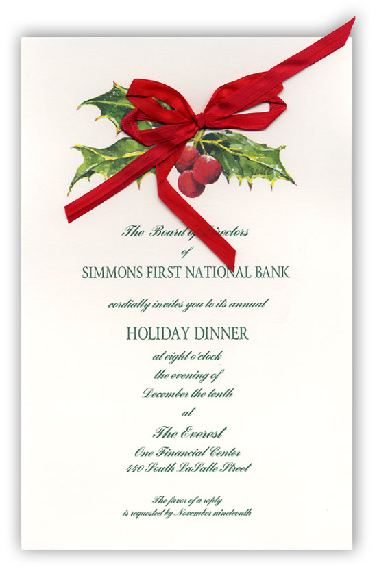Burford Berries Holly Invitation
