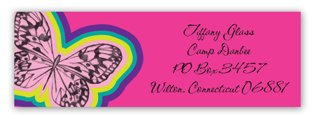 Butterfly Camp Address Label