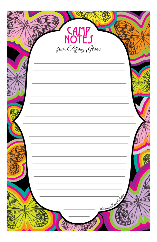 Butterfly Camp Notepad