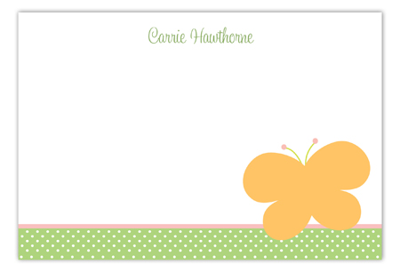 Butterfly Dot Flat Note Card