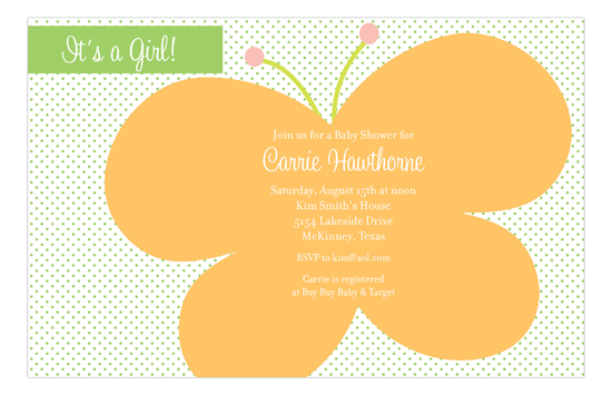 Butterfly Dot Invitation