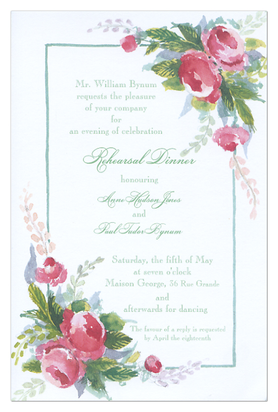 Cabbage Rose Invitation