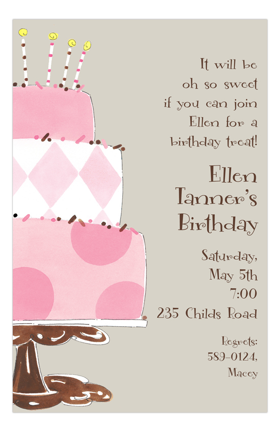 Cake Time Invitation