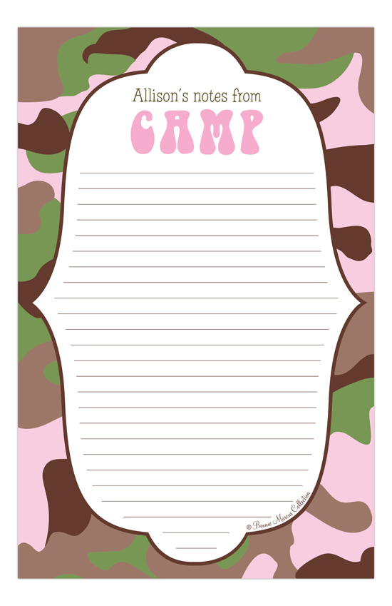 Camo Pink Camp Notepad