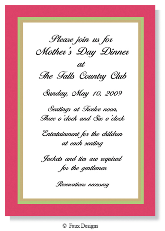 Candiland Border Rose and Gold Invitation