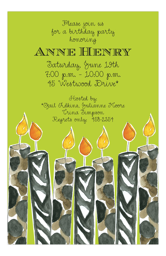 Candle Craze Invitation