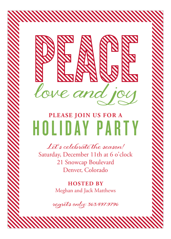 Candy Cane Stripes Invitation