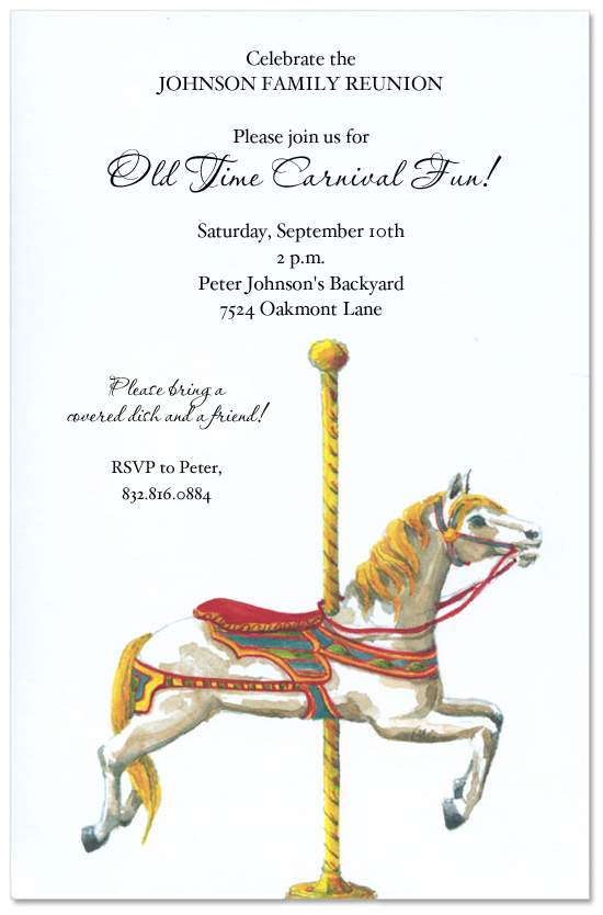Carousel Party Invitations The Best Invitation In 2017 – Carousel Party Invitations