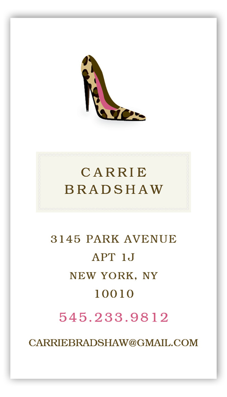 Carrie High Heel Calling Card