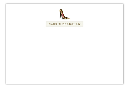 Carrie High Heel Flat Note Card