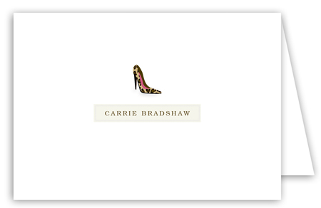 Carrie High Heel Note Card