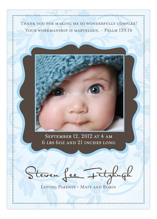 Catalina Blue Photo Card