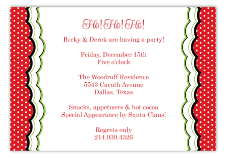 Ho Ho Ho Holiday Catie Invitations