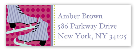 Celebrate and Skate Address Label
