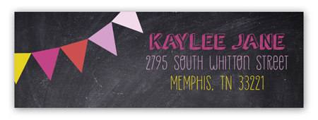 Chalkboard Birthday Girl Address Label
