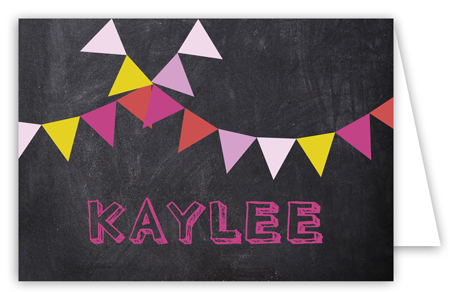 Chalkboard Birthday Girl Folded Note Card