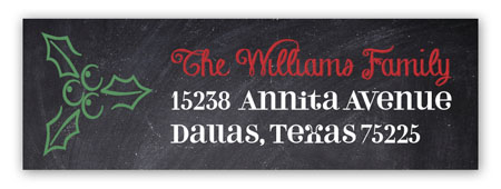 Chalkboard Christmas Address Label